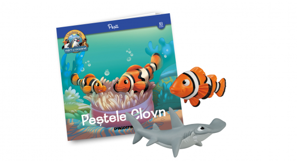 Revista Vieţuitoare din mări şi oceane – Nr.18 – Peştele clovn Pip + peştele ciocan Lello 0