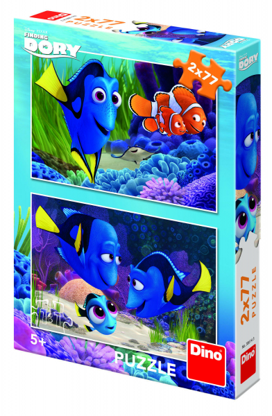 Puzzle 2 in 1 - Gasirea lui Dory (77 piese) [1]