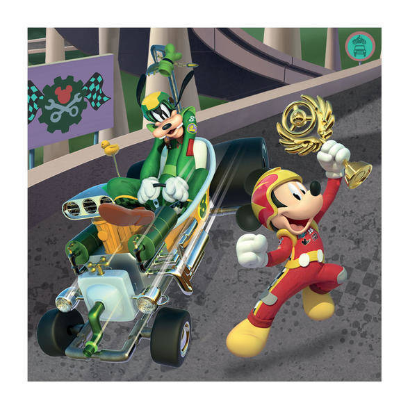 Puzzle 3 in 1 - Cursa lui Mickey Mouse (3 x 55 piese) 2