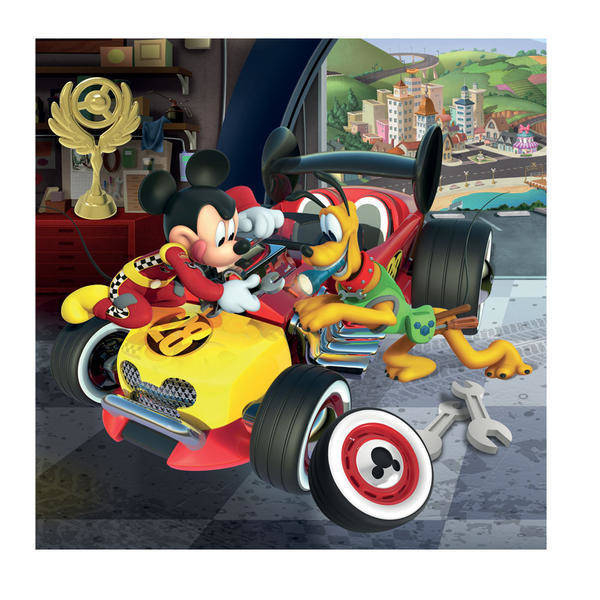 Puzzle 3 in 1 - Cursa lui Mickey Mouse (3 x 55 piese) 3