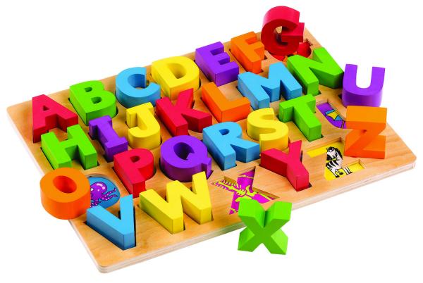 Puzzle alfabet - Litere mari 0