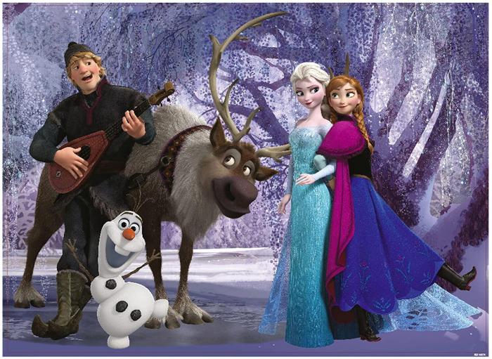 Puzzle de colorat maxi - Elsa si prietenii (60 piese) [1]