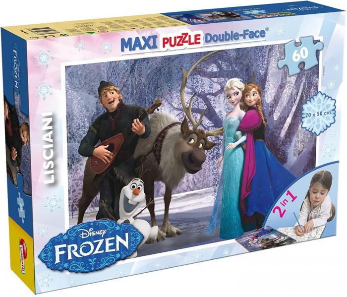 Puzzle de colorat maxi - Elsa si prietenii (60 piese) [0]