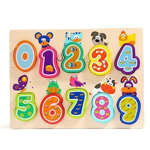 Puzzle din lemn - Numere si animalute 4