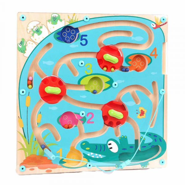 Puzzle labirint - Crocodilul 8