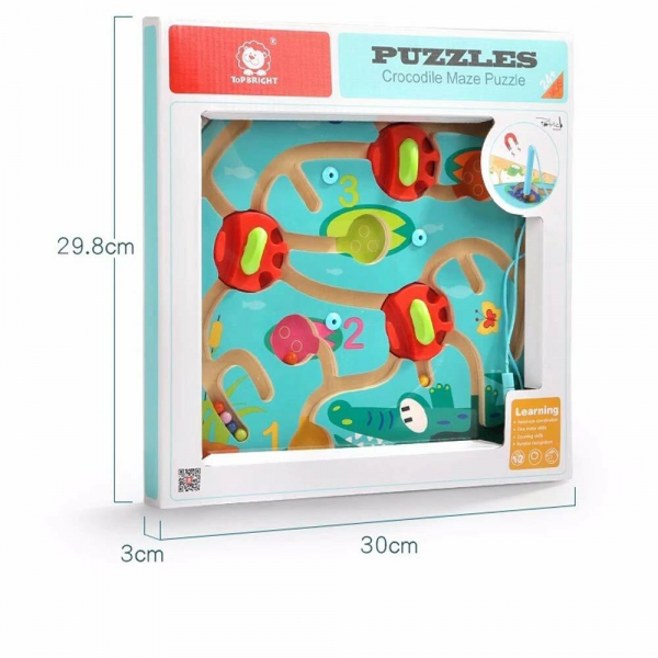 Puzzle labirint - Crocodilul 11