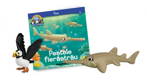 Revista Vieţuitoare din mări şi oceane – Nr.11 – Peştele fierăstrău (mama) + pufinul de Atlantic 0