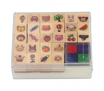 Set tusiera si stampile din lemn 4
