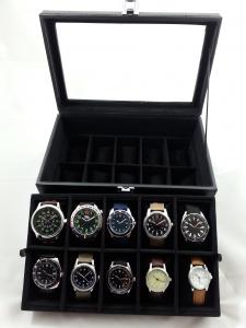 Casetă - vitrină pentru ceasuri sau bijuterii0