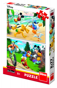 Puzzle 2 in 1 - Mickey campionul (77 piese) [1]