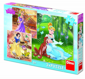 Puzzle 3 in 1 - Printese jucause (55 piese)0