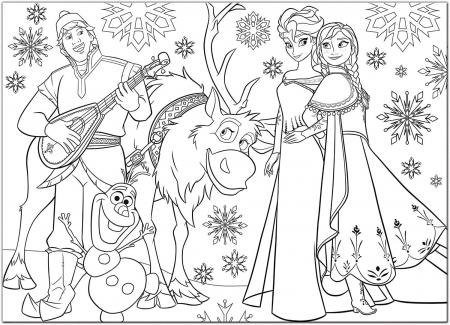 Puzzle de colorat maxi - Elsa si prietenii (60 piese) [2]