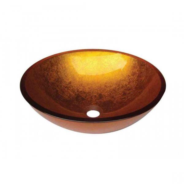 VETRO - Vas Lavoar de sticla - GOLD - 420x420x140 mm [0]