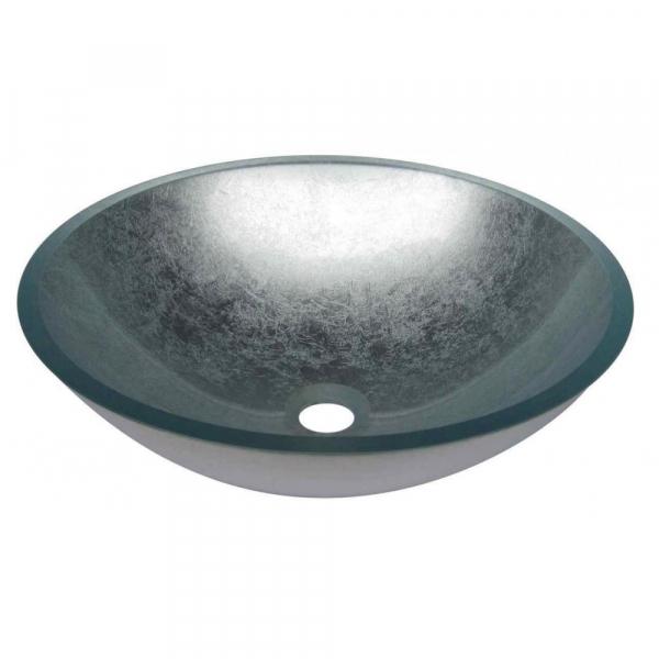 VETRO - Vas Lavoar de sticla - SILVER - 420x420x140 mm [0]