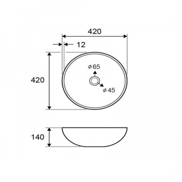 VETRO - Vas Lavoar de sticla - SILVER - 420x420x140 mm [1]