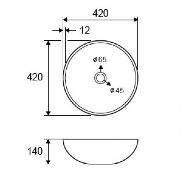 VETRO - Vas Lavoar de sticla - BRONZE - 420x420x140 mm [1]