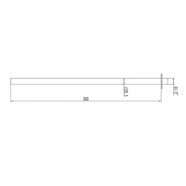 Brat tubular - 50 cm - ANDARE NERO [1]