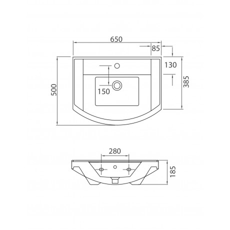 BIANNA 4844 - Vas Lavoar 650x500x185mm [1]