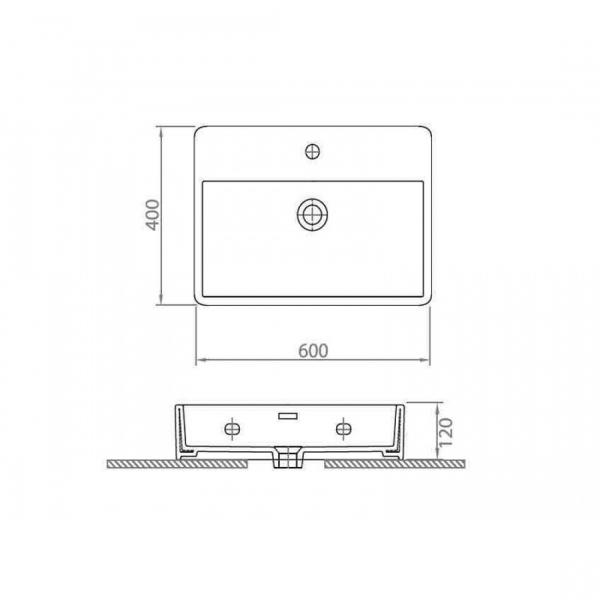 CONTOUR 61060 - Vas Lavoar 600χ400χ120mm 1