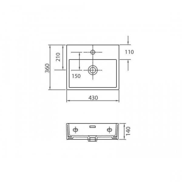 DAPHNE 53708 - Vas Lavoar 430x360x140mm 1