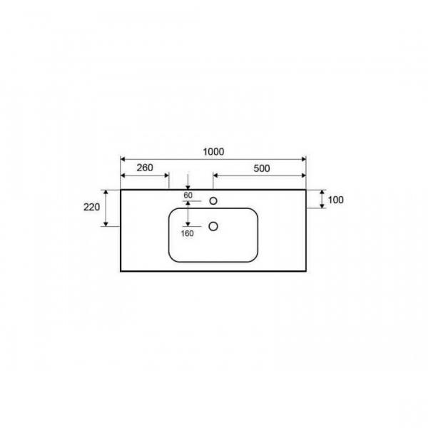 ELOISE 100 - Vas Lavoar 1000x460x160mm - solid surface [1]