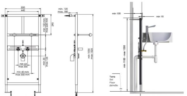 F2-0063 Suport de perete și pardoseală încorporat pentru bazin 1