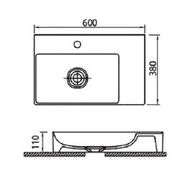 INFINITY 6160 - Vas Lavoar 600x380x110mm 1