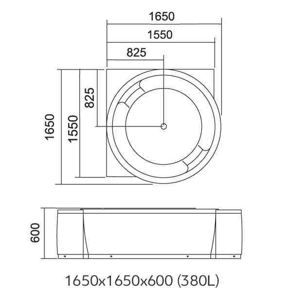 LIBERA - Cada de colt hidromasaj 1650x1650 2
