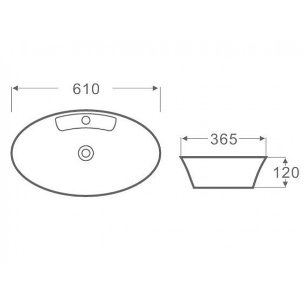 LT 3203 - Vas Lavoar 610χ365χ120mm [1]