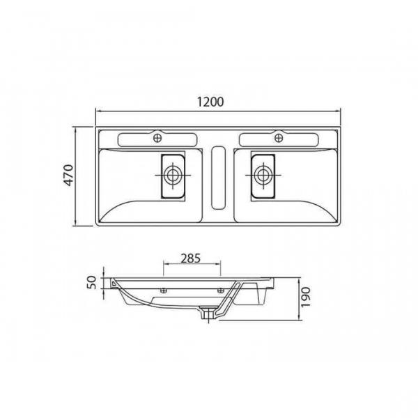 QUATTRO 8120-Vas Lavoar 1200x470x190mm [1]