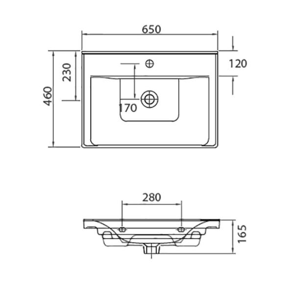 SAVA 2065 - Vas Lavoar 650x460x165mm [1]