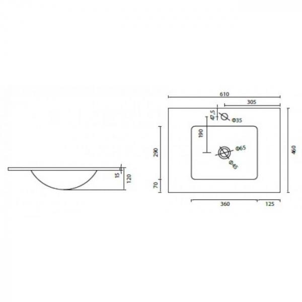 VETRO - Vas Lavoar de sticla - 610x460x120 mm [1]