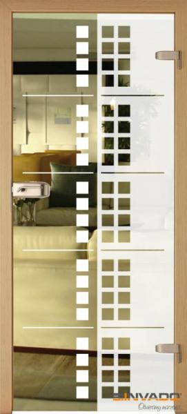 AMBER 11 - Usa Interior Sticla securizata cu toc MDF [0]
