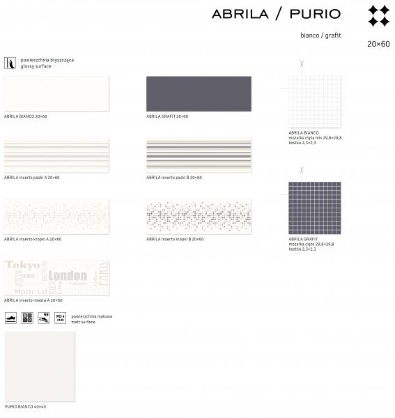 Bianco/Grafit - ABRILA/PURIO 1