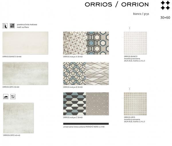 Bianco/Grys- ORRIOS/ORRION 1