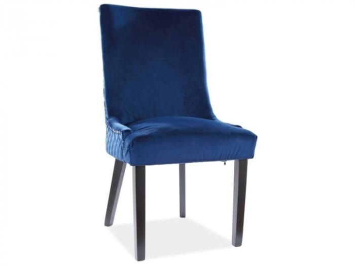 Scaun Leon Velvet Albastru – 55lx45Ax99h cm [0]