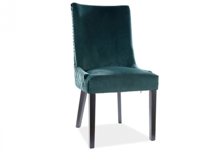Scaun Leon Velvet Verde – 55lx45Ax99h cm [0]