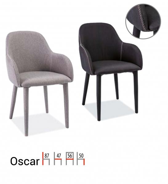 Scaun Oscar Gri  -  l56x A47 x H87 cm [1]