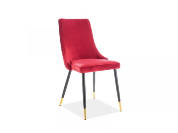 Scaun Piano Velvet Rosu – l44 x A45 x H92 cm 0