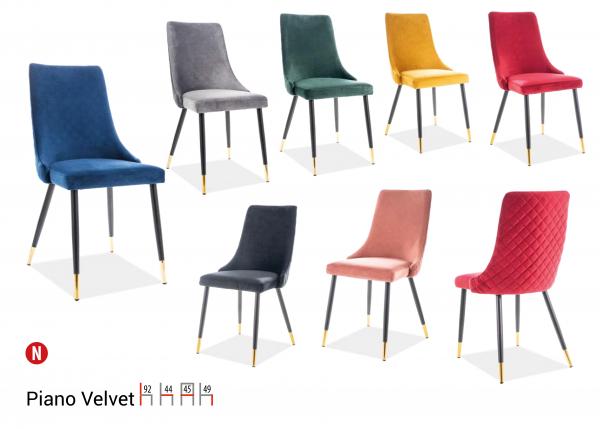 Scaun Piano Velvet Rosu – l44 x A45 x H92 cm 1