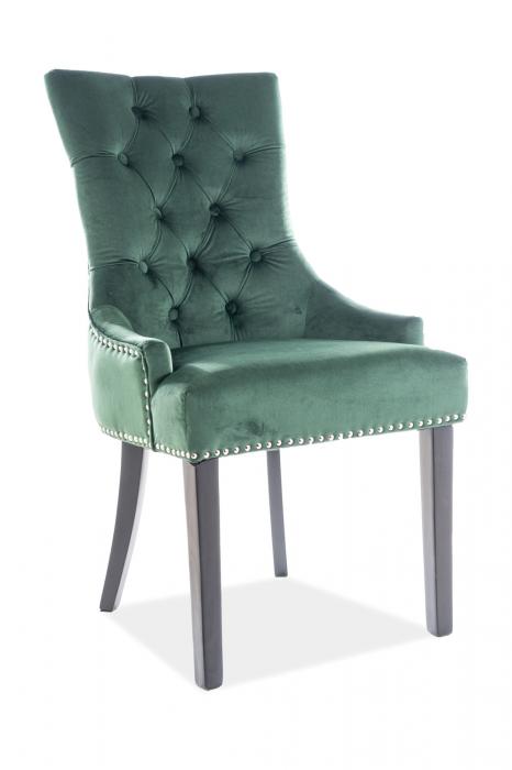 Scaun Edward Velvet Verde- 55x45x99 cm lxAxh [0]