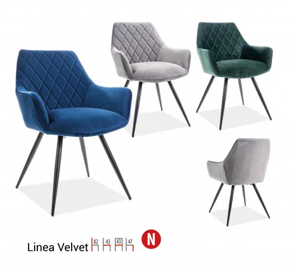 Scaun Linea Velvet Verde – l43 x A43 x H82 cm [1]