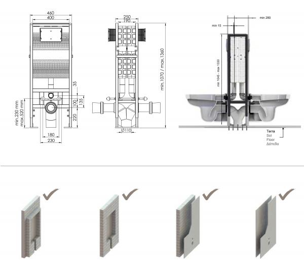 T05-2115 Set de 2 rezervoare wc incorporate 1