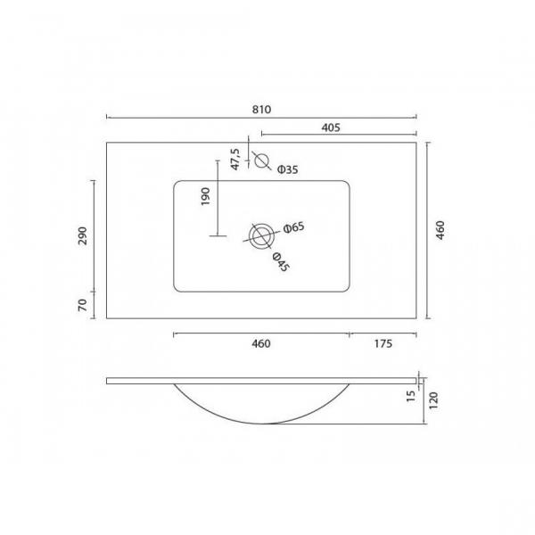 VETRO - Vas Lavoar de sticla - 810x460x120 mm [1]