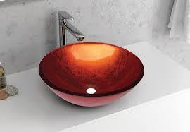 VETRO - Vas Lavoar de sticla - ORANGE - 420x420x140 mm [2]