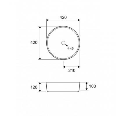 A 5006 GLASS - Vas Lavoar 420x420x120mm [1]
