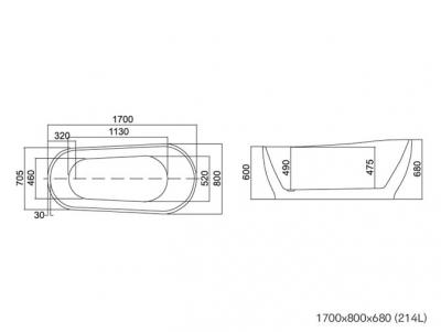 ATENA - Cada freestandyng 1700x8001