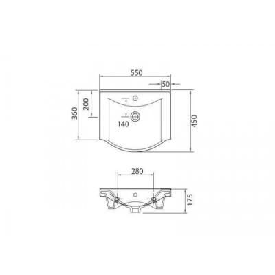 BASIC 7055 - Vas Lavoar 550x450x175mm1