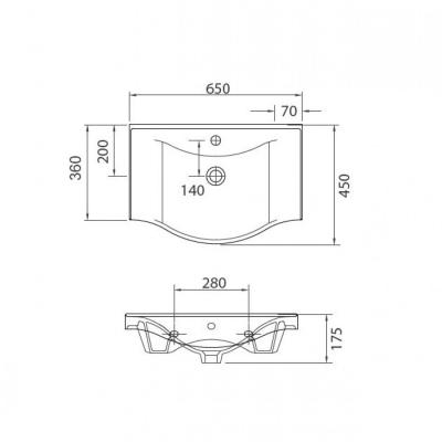 BASIC 7065 - Vas Lavoar 650x450x175mm [1]