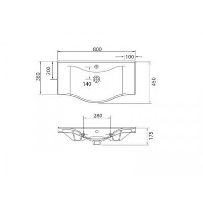 BASIC 7080 - Vas Lavoar  800x450x175mm1